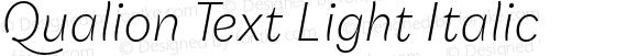 Qualion Text Light Italic