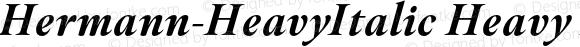 Hermann-HeavyItalic Heavy Italic