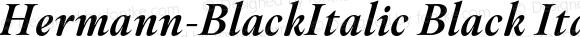 Hermann-BlackItalic Black Italic