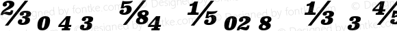 Clarendon Text Fractions Bold I