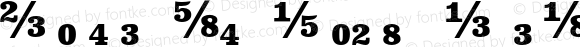 Clarendon Text Fractions Bold