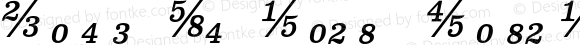 Clarendon Text Fractions Italic
