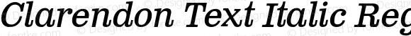 Clarendon Text Italic