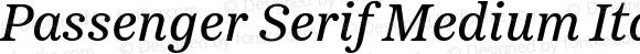 Passenger Serif