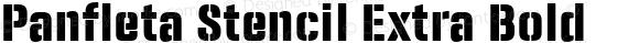 Panfleta Stencil Extra Bold