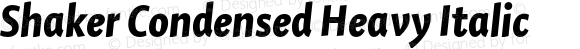 Shaker Condensed Heavy Italic