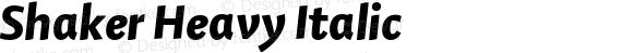 Shaker Heavy Italic