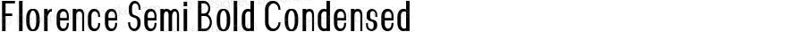 Florence-SemiBoldCondensed