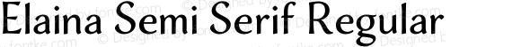 Elaina Semi Serif Regular Version 1.001
