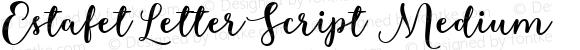 Estafet Letter Script