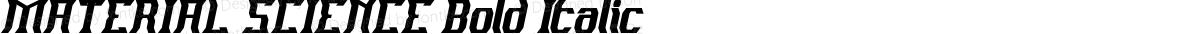 MATERIAL SCIENCE Bold Italic