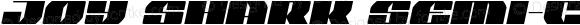 Joy Shark Semi-Condensed Semi-Italic Semi-Condensed Semi-Italic
