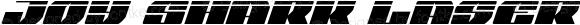 Joy Shark Laser Semi-Condensed Italic Semi-Condensed Italic