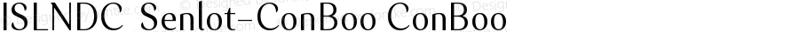 ISLNDC+Senlot-ConBoo ConBoo Version 1.0