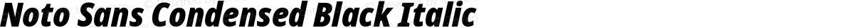 Noto Sans Condensed Black Italic
