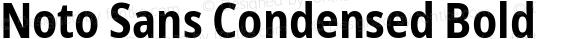 Noto Sans Condensed Bold