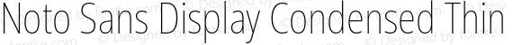 Noto Sans Display Condensed Thin