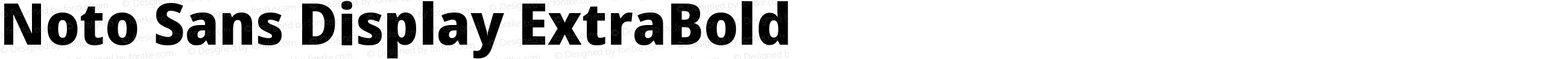 Noto Sans Display ExtraBold