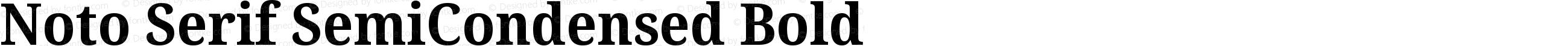 Noto Serif SemiCondensed Bold