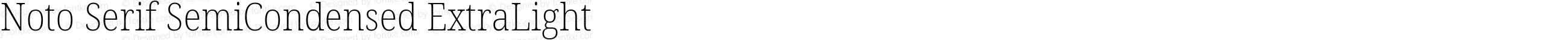 Noto Serif SemiCondensed ExtraLight
