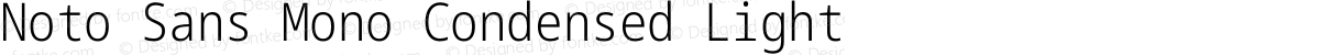 Noto Sans Mono Condensed Light