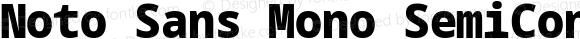 Noto Sans Mono SemiCondensed Black
