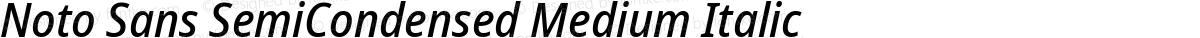 Noto Sans SemiCondensed Medium Italic