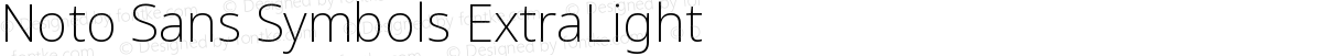 Noto Sans Symbols ExtraLight