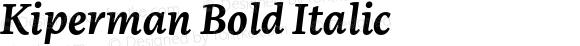 Kiperman Bold Italic