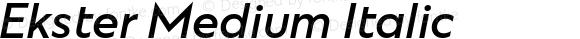 Ekster Medium Italic