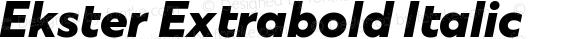 Ekster Extrabold Italic