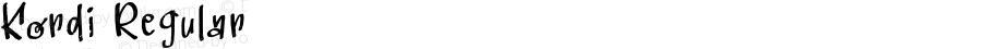 Kordi Regular Version 1.003;Fontself Maker 3.1.0