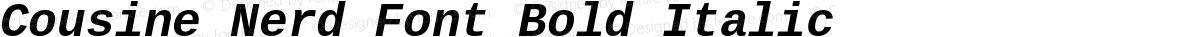 Cousine Nerd Font Bold Italic