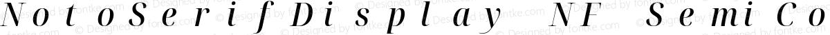 NotoSerifDisplay NF SemiCondensed Medium Italic