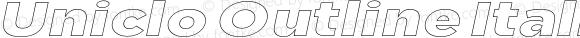 Uniclo Outline Italic