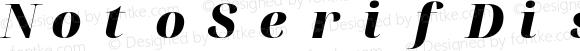 NotoSerifDisplay Nerd Font Mono Black Italic