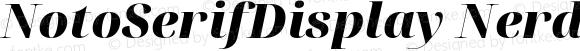 NotoSerifDisplay Nerd Font Black Italic