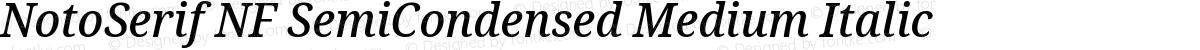 NotoSerif NF SemiCondensed Medium Italic