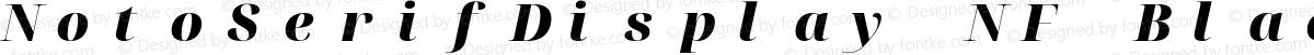 NotoSerifDisplay NF Black Italic