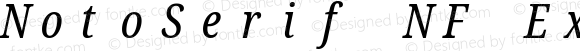 NotoSerif NF ExtraCondensed Italic