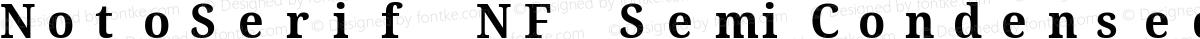 NotoSerif NF SemiCondensed Bold