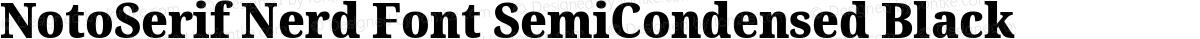 NotoSerif Nerd Font SemiCondensed Black