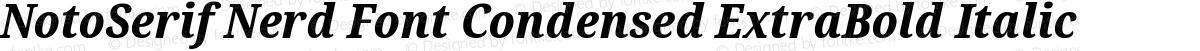 NotoSerif Nerd Font Condensed ExtraBold Italic