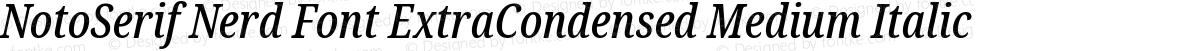 NotoSerif Nerd Font ExtraCondensed Medium Italic