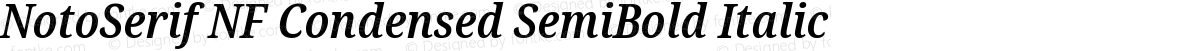 NotoSerif NF Condensed SemiBold Italic