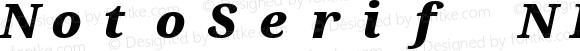 NotoSerif NF Black Italic