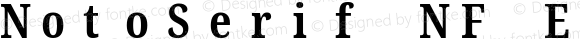 NotoSerif NF ExtraCondensed Bold