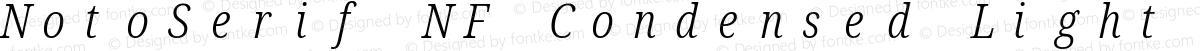 NotoSerif NF Condensed Light Italic