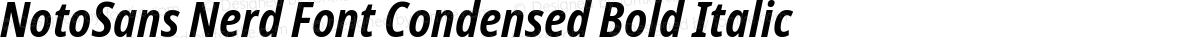 NotoSans Nerd Font Condensed Bold Italic