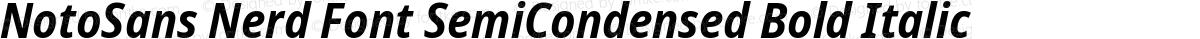 NotoSans Nerd Font SemiCondensed Bold Italic